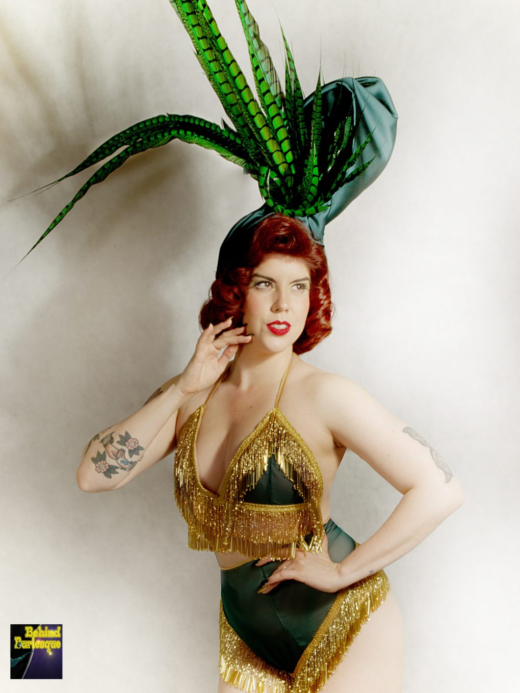 Green and Gold Costume - Miss Cherry On Fire